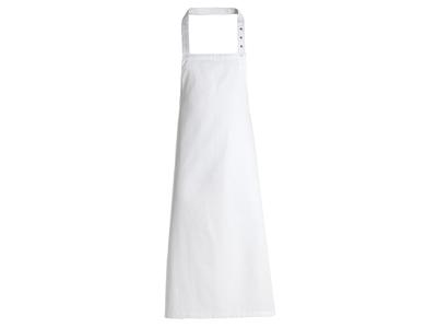 Smækforklæde m/lommer hvid 95x100