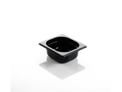 Kantine Polycarbonat Sort 1/6 GN 6,5 cm