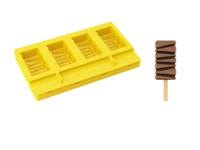 Silicone ice cream mould
