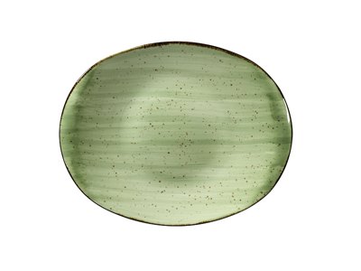 Tallerken flad 24x31 cm Corendon grøn