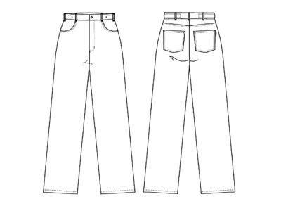 Bukser Unisex jeans lysgrå str XS