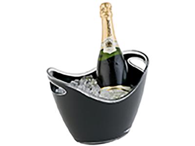 Champagne skål 3 ltr sort 27x20 cm