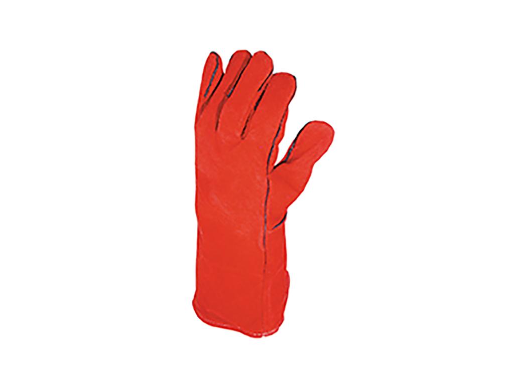 Svejsehandske 5-fingret Rød Oksespalt