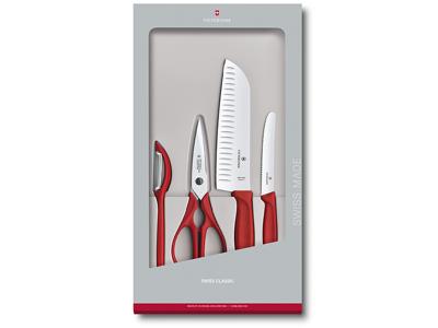 Knivsæt Victorinox Swiss Classic 4-P Rød