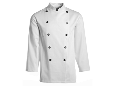 White Chef Jacket with ball buttons size 88