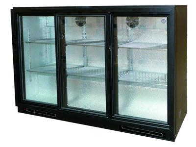 Kylskåp 328 liter 3 glasskjutdörrar