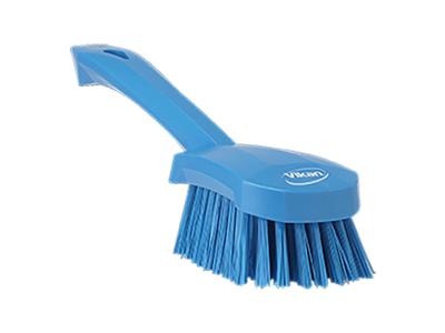 Vaskebørste kort skaft, blå