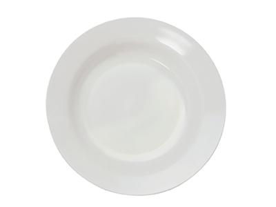 Tallerken Melamin Dyb Hvid 20 Cm