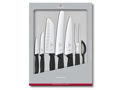 Knivsæt Victorinox Swiss Classic 7-P Sor