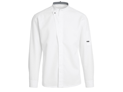 Kokkejakke hvid m/trykknap Unisex M