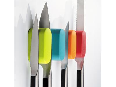 Knivmagnet til 2 knive Blå