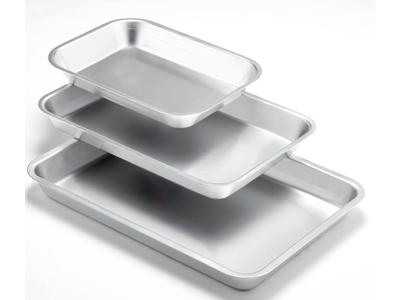 Kødbakke, aluminium 36 x 26 cm
