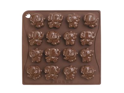 Chokoladeform brun Elefant