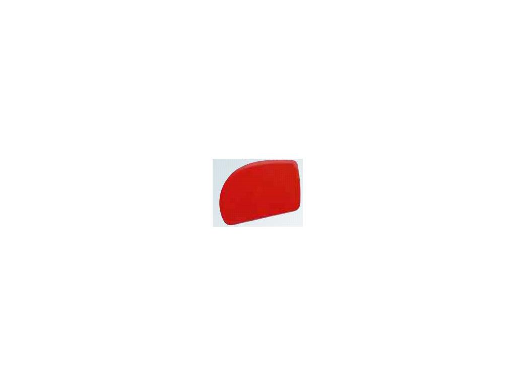 Dejskraber Rød 120 x 80mm 1 buet ende