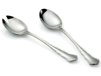 Chippendale salad servers