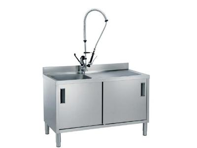 Skab 700x700x1000 mm 1 vask 2 låger