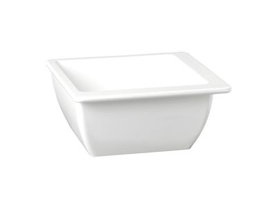 Melamin skål Hvid 25 x 25 H:9 cm 2,5 L