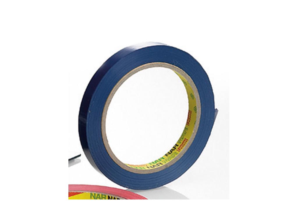 Tape til poselukker 12 mm Blå 66 mtr.