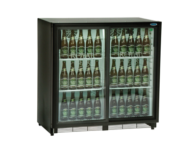 Kylskåp 196 liter 2 glasskjutdörrar