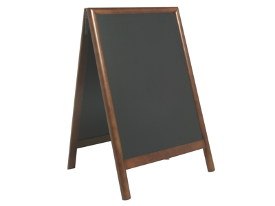 Sandwich sign with board dark brown lacquered