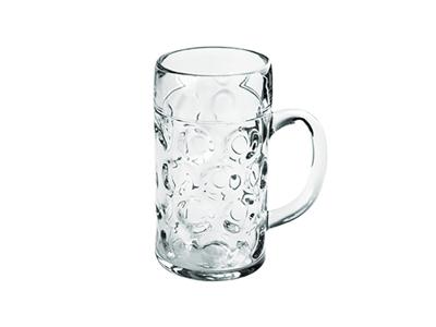 Ølkrus m/hank 1,0 ltr SAN Plastic