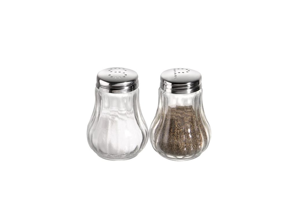 Salt & Peberbøsse H:6,5 cm rifled shaker