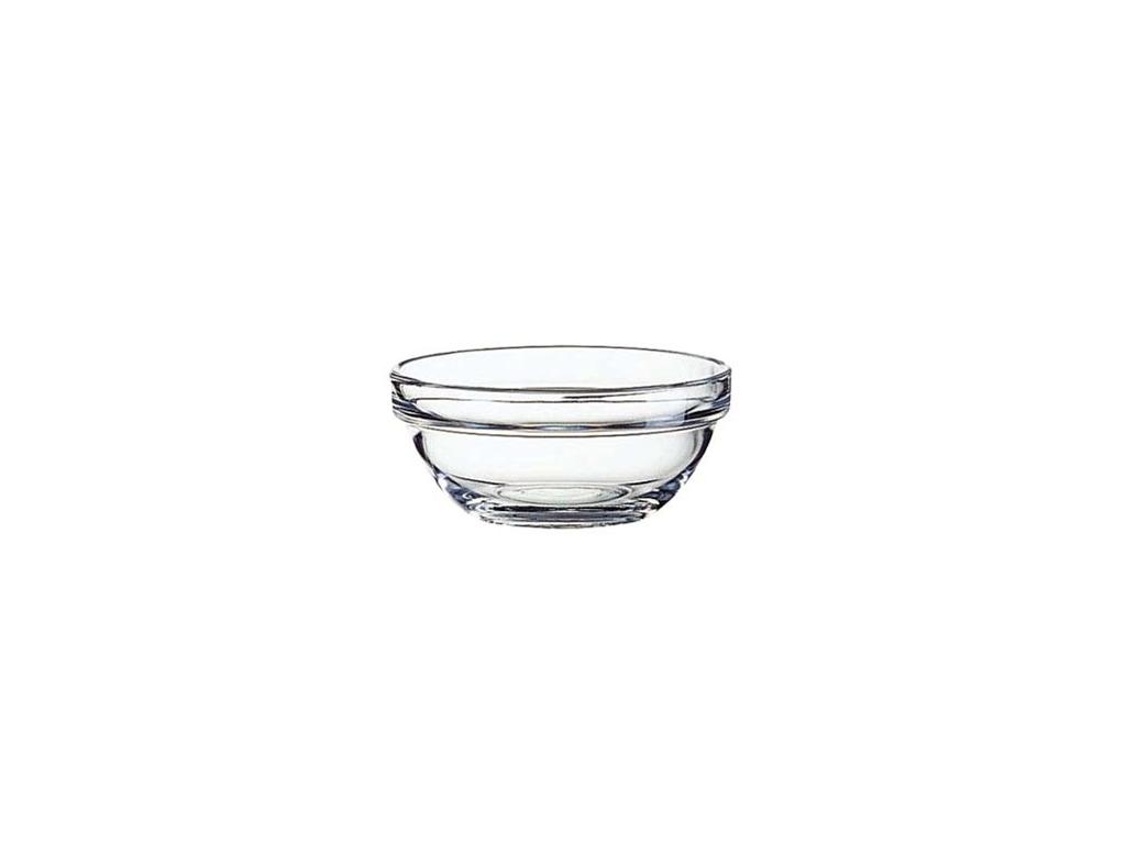 Stabelbar glasskål