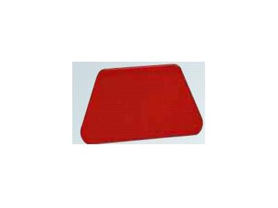 Dejskraber Rød 208 x 128mm trapez runde