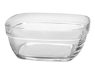 Glasskål firk stabelbar 14x14x5,7cm 61cl