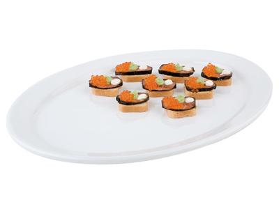 Tallrik PURE av melamin, oval