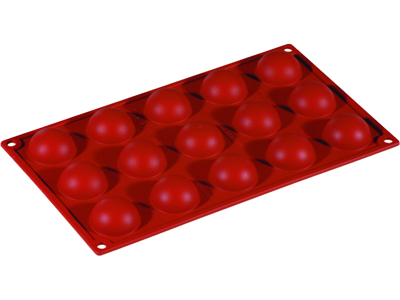 Baking mould half orbs 15 pcs.