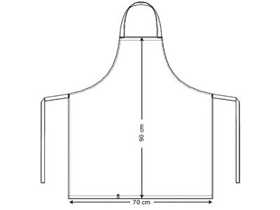 Kentaur Smækforklæde u/brystlomme
