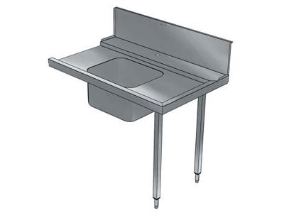 Indföringsbord med vask vänster mot höger