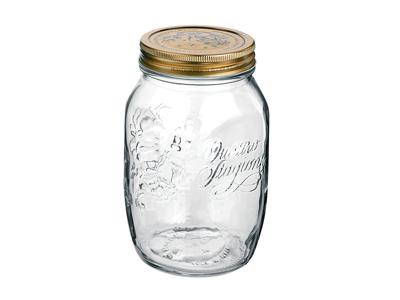 Sylteglas med låg  Quatro 1,0 l