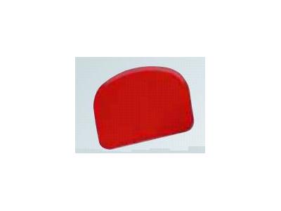 Dejskraber Rød 120 x 80mm 2 buede ender