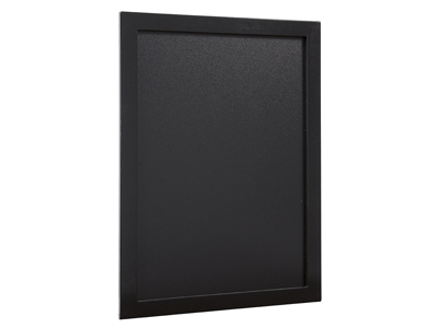 Tavle 30x40 cm sort lakeret træ ramme
