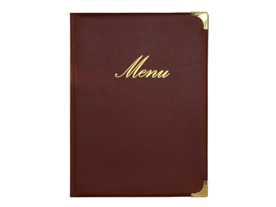 Wine red Menu cover A4