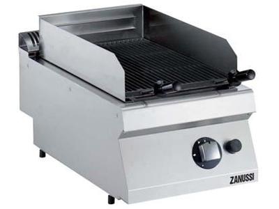 Grill lavasten m/støbejernsrist gas 700 - 400x700x250 mm