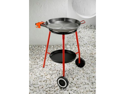 Paella brænder m/bakke og hjul 40 cm