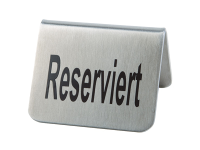 Sign that says Reserved