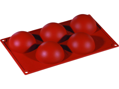 Baking mould half orbs 5 pcs.
