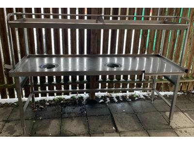Brugt Skyllebord med overbygning