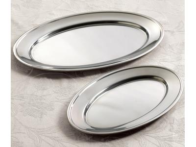 Fad ovalt rustfrit 55 x 36 cm