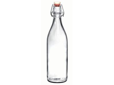 Vandflaske 1 L m Patent låg Bormioli