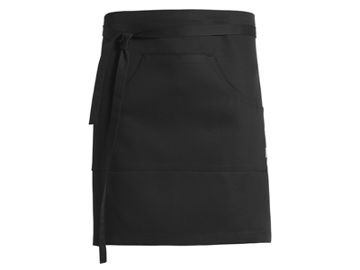Short apron black 70 x 45
