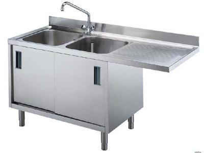 Skab til WT30 - med tørreriller og vaske