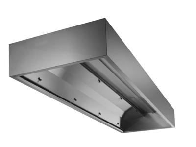 Emhætte 2000x1200 mm vægh m/kondensskjo