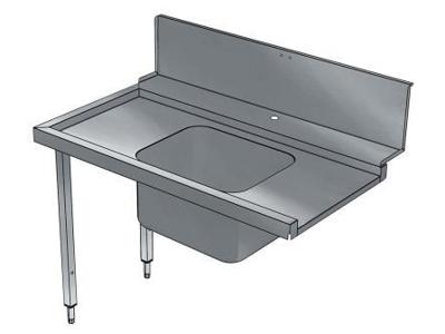 Ingångsbord med vask vänster mot höger