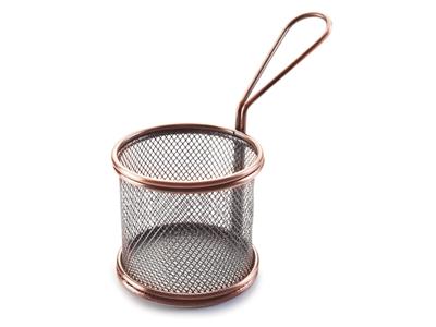 Friturekurv Mini rund Ø9 cm Kobber