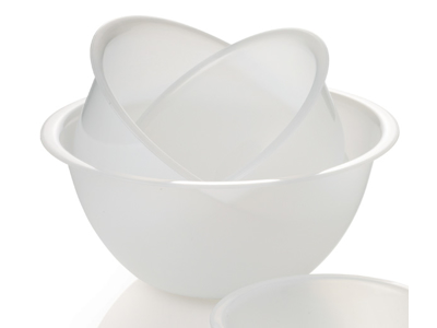 Skål plast hvid 2,5 liter Ø23 cm